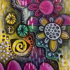 art journal page - Sometimes there is no plan, you just have to...