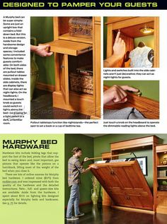 #3036 Build Murphy Bed - Furniture Plans