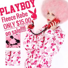 Its getting cold... get cozy with a Playboy Fleece Robe !   http://patriciafield.com/products/copy-of-playboy-white-fleece-robe