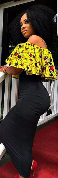 cool African top, African fabric, ruffle off shoulder blouse, ankara tops. African fa...