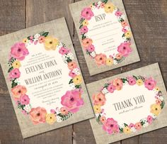 Hey, I found this really awesome Etsy listing at https://www.etsy.com/listing/156223358/printable-wedding-invitation-set-dyi