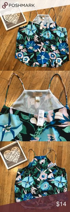 〰🍍NWT! 🍍〰LOFT exotic floral strappy cami! NWT!! LOFT strappy cami with exotic floral print •size large • perfect condition, tags attached • this is a reposh - absolutely loved everything about this top, but unfortunately too big on me. I'm typically a medium or large at loft depending on fit, but this is definitely a large• such a gorgeous top for layering ! ( see this top featured under my loft aqua open cardigan in another post) • LOFT Tops