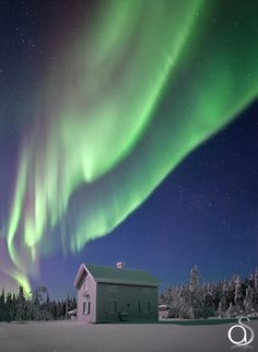 The Frozen House - Aurora Borealis dances over an ice encrusted house in the far north of Sweden. Temperatures here have been as low as -40c which is -40f this winter. The biggest challenge was getting close enough to shoot this with a wide angle lens through well over a metre of snow!