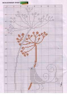 ru / Foto # 49 - g - f-morgan Small Cross Stitch, Cross Stitch Bird, Cross Stitch Flowers, Cross Stitch Charts, Cross Stitching, Cross Stitch Embroidery, Knitting Paterns, Knitting Charts, Modern Cross Stitch Patterns