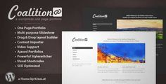 Download and review of Coalition - One Page WordPress Portfolio, one of the best Themeforest Creatives themes {Download & review at Review and download at} { -> }http://best-wordpress-theme.net/coalition-one-page-portfolio-download-review/