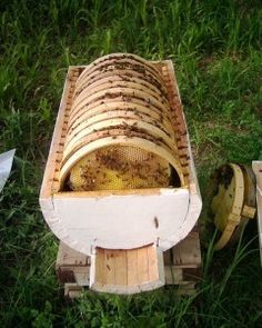Bee Hive Design - how practical is it? Would this qualify as a top bar hive? Top Bar Hive, Raising Bees, Bee Boxes, Bee Farm, Bee Happy, Save The Bees, Hobby Farms, Busy Bee, Bees Knees