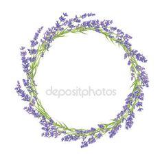 Kruh z květů levandule — Stocková ilustrace #72117873