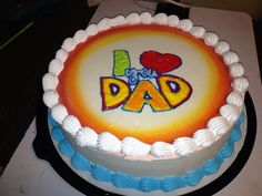 Dairy Queen Cake, Queen Cakes, Fathers Day Cake, Awesome Drawings, Easy Work, Dad Day, Chocolate Caramels, Round Cakes, Fall Flowers