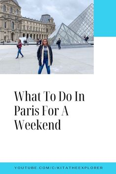 Are you going to Paris for the first time? Or are you wanting to make a quick trip to Paris? If so, this video is for you! Watch this video to see what to do in Paris for a weekend! This is all based off of my Paris, France 3 day weekend experience! Paris Travel Guide, Travel Guides, European Travel Tips, Road Trip Europe, Visit France, Top Travel Destinations, The Beautiful Country, Worldwide Travel, France Travel
