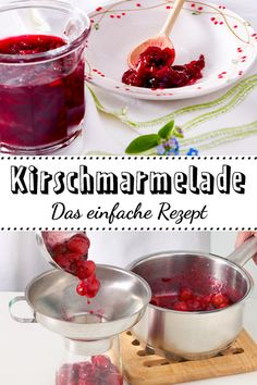Cherry jam - the simple recipe-Kirschmarmelade – das einfache Rezept The best you can get can do! Healthy Diet Tips, Diet And Nutrition, Healthy Cooking, Cooking Tips, Proper Nutrition, Healthy Dessert Recipes, Health Desserts, Cooking For Beginners, Fat Burning Drinks