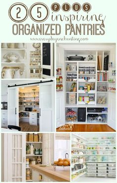 25 Inspiring Organized Pantries | See our pantry inspiration round-up including 25+ ideas to organize your space!