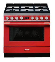 cucina freestanding cpf9gmr smeg rosso vivace Foyers, Smeg Fridge, Induction Cookware, Single Oven, Range Cooker, Electric Oven, Lampe Led, Herd, Houses