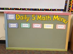 http://www.teacherspayteachers.com/Product/Daily-5-Math-771116  Daily 5 Math Menu Cards, Rotation Cards, a sample I-chart, 20 games and activities including technology game sites and i-pad apps to use during the rotations.
