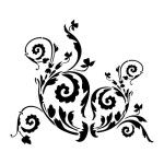 """(NEW) Floral Scroll stencil by Artisan Enhancements 9x10"""""""