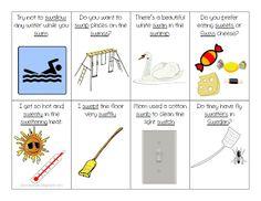 Ms. Lane's SLP Materials: Articulation: Sw Blends Sentence Flash Cards