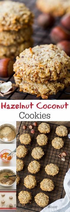 These chewy, wholesome hazelnut coconut cookies are made with only good-for-you-ingredients. No processed sugar, no butter, no flour. And they actually taste amazing!!