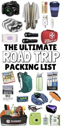 The Ultimate Road Trip Packing List: Packed full of road trip essentials to keep the car (and you!) safe, comfortable & entertained on your next road trip. Travel Tips.