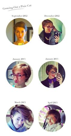 5 Tips for Growing Out A Pixie Cut - she also includes pictures of how her hair looked like during the grow out phase