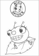 Dibujos para colorear. Miss Spider