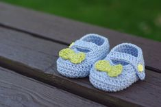 Mary Janes Booties -Crochet for Babies