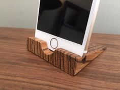 iPhone 6 Stand  Zebrawood  iPhone 6 Dock  by ARKaufmanWoodworks