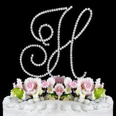 RENAISSANCE MONOGRAM WEDDING CAKE TOPPER LARGE LETTER H by Other -- To view further for this item, visit the image link.