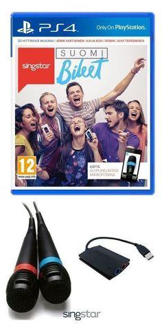 SingStar SuomiBileet + Langalliset SONY Mikit 2 kpl PS4 Ps4, Sony, Movies, Movie Posters, Ps3, Films, Film Poster, Cinema, Movie
