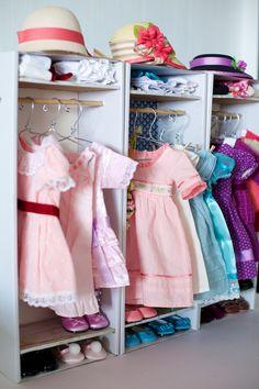Tutorial: Doll Box into Dolly Closet! Great idea!