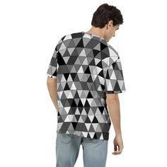 Men's Gray Triangles T Shirt Mens Tees, Ruffle Blouse, Grey, T Shirt, How To Wear, Women, Style, Fashion, Gray