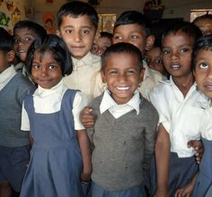 Happy preschoolers in India. They were glowing after giving us a demonstration of their collective dancing skills!
