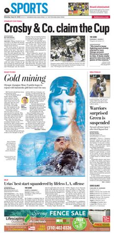 Missy Franklin: Road to Rio  #News #GraphicDesign #Layout #Sports more at https://www.pinterest.com/rojasmark2/newspaper-designs-by-mark-rojas/