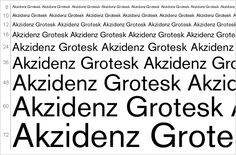 Nice list of the 15 best serif and 15 best sans-serif fonts, like Akzidenz Grotesk