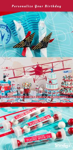 If he's dreamed of being a pilot every since he was first old enough to look skyward and point excitedly, he'll love an airplane themed birthday party with decorations and supplies from Shindigz.