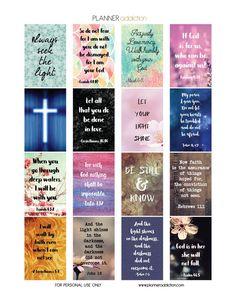 Free Printable Planner Stickers - Bible Scripture - Happy Planner
