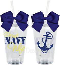 Proud Navy Wife Wifey Mom Girlfriend 16oz by LylaBugDesigns, $15.00