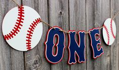 This beautiful baseball banner is a perfect accessory to your little slugger's baseball themed party. It's the perfect size to display on a high chair. - Colors: navy, red, white - Length: 22 inches -