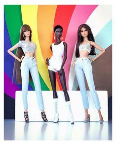 "Luca Collins Gray on Instagram: ""HAPPY PRIDE MONTH 🏳️🌈🏳️⚧️ #loveislove🌈 #loveislove #pridemonth #pride2021 #gay #fashiondolls #fashiondollphotography #dollphotography…"" Fashion Dolls, Pride, Capri Pants, Barbie, Grey, Instagram, Dresses, Happy, Gray"