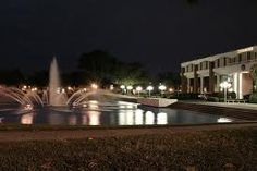 UCF Fountain at night