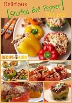 Delicious Stuffed Bell Pepper Recipes | Love stuffed peppers? You need to try these recipes! From recipes with ground beef to recipes without, these are must-make dinners for any pepper fan.
