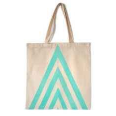 Hand Painted Arrow Tote (Mint) from LoveM.co $10.00