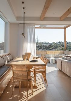 Dining Table Chairs, Dining Area, Dining Room, Riverview Homes, Georgina Wilson, California Bungalow, Glass Pool, Australian Homes, Modern Coastal