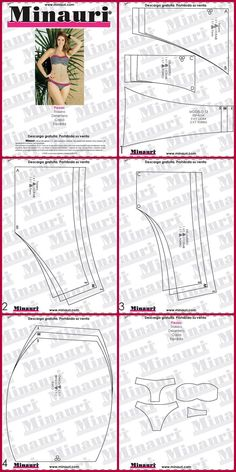 Ropa Intima Lingerie Patterns, Sewing Lingerie, Sewing Hacks, Sewing Tutorials, Sewing Crafts, Sewing Clothes, Diy Clothes, Bra Pattern, Bikini Pattern