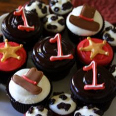 #Cowboy birthday #cupcakes by @Danielle Keene - coordinated by Inspired Events