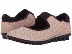 Women's Shoes Bernie Mev Kendra Interlaced Elastic Flat Light Gold