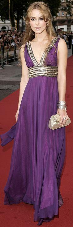 """Keira Knightley in Matthew Williamson (""""Pride & Prejudice)"""