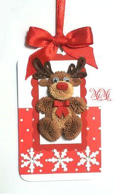 1 x Handmade Quilling Animals Christmas Gift Tag Kids/Children - Deer, Bear, Penguin, Giraffe Arte Quilling, Quilling Craft, Quilling Patterns, Quilling Designs, Christmas Crafts For Gifts, Christmas Gift Tags, Noel Christmas, Paper Quilling Tutorial, Quilling Christmas