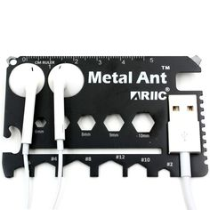 Ariic New Metal Ant 21in1 Multi-purpose Credit Card Pocket Tool Wallet Apple USB Cable and Earphone Holder Best Gift for Man's - - Amazon.com
