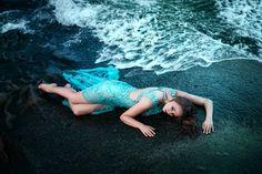 Edycja Tapety: Kobieta, Skała, Woda