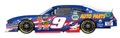 #9 CHASE ELLIOTT(yes,Awesome Bill's son) IN A JRM CAR FROM IT'S STABLE,18yr old SUPERSTAR IN THE FUTURE!!