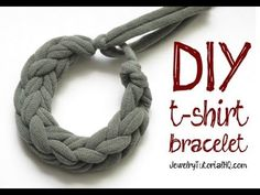 DIY Jersey Knit T-Shirt Bracelet Tutorial